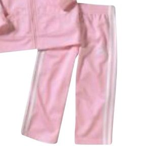 Adidas Women's Pink/White Stripe Workout  pants S